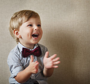 happy, clapping child