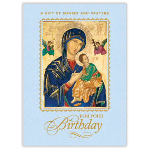 Birthday Mass Card