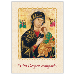 Purgatorian Society, Mother of Perpetual Help Mass Cards for the Deceased (pack of 100)